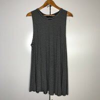 Audrey 3+1 Black and White Struped Tunic Dress