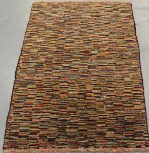 Handmade Parsian Gabbeh Wool Rug 115cm x 80cm