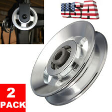 2 PACK Bearing Pulley Wheel Cable Fitness Gym Equipment Aluminum Heavy 88mm USA