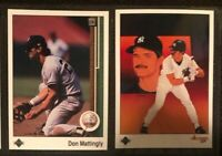 1989 Upper Deck Don Mattingly card lot of 2 w/ Collectors Choice - Yankees NM-MT