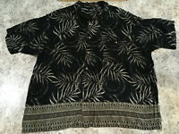 VINTAGE 80S 90S HAWAIIAN SHIRT CAMP SAFARI 3XL XXXL Big & Tall Casual GIFT