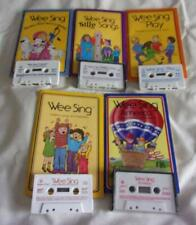 Set of 5 Wee Sing & Learn picture books + matching cassettes