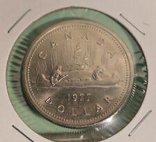 Nickel Lower Mintage  D9a 1977 TYPE III One Dollar Coin ELIZABETH II CANADA