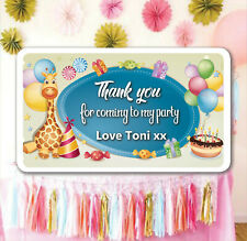 42 Birthday Party Bag Stickers Sweet cone Labels Balloons Personalised