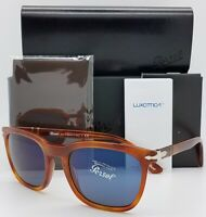 NEW PERSOL sunglasses PO3193S 96/56 Tortoise Brown Blue Terra di AUTHENTIC 3173