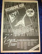 "WISHBONE ASH Just Testing (Virgin) 1980  UK Poster size Press ADVERT 16x12"""