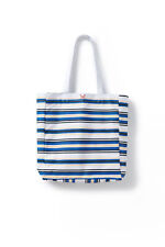 New Crew Clothing Womens Stripe Tote Bag in Multicoloured Size O/S