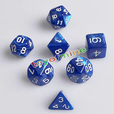 Blu 7 Sided Dice Magic-la-Gathering MTG D & D RPG Poly gioco