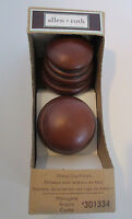 Wood Cap finials Mahogany Use with 1 3/8 or 1 3/4 diameter wood poles allen roth