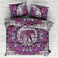 Blanket Cover Indian Elephant Mandala Doona Duvet Quilt Cover Luxury Bedding Set