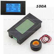 New Digital LED AC 100A Volt Amp Watt Power Monitor Ammeter Voltmeter w/ case+CT