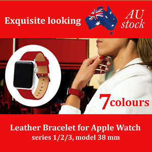 Luxury Leather Single Tour Band Strap Bracelet Belt For iWatch Apple Watch 3/2/1