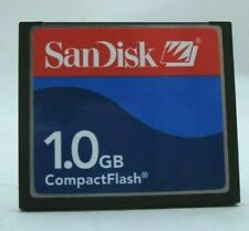 1GB SANDISK COMPACTFLASH CF COMPACT FLASH MEMORY CARD 1 GB