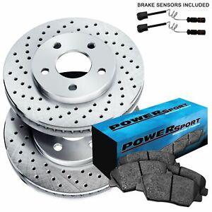 Fit Mercedes-Benz CL550, S550, S400 Rear  Drilled Brake Rotors+Ceramic Brake Pad