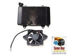NEW UNIVERSAL RADIATOR WATER COOLER + 12V FAN MOTORCYCLE TRIALS
