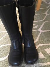 Dr Martens Authentic Wedge Zip Mid Calf Black Leather Boots Uk4