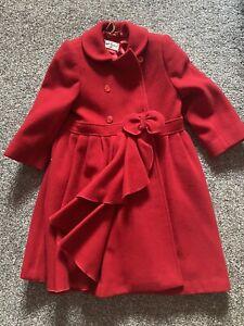 Sarah Louise Age 4 Red Winter Coat