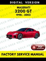 Maserati 3200 GT Tipo 338 1998-2002 Factory Service Repair Workshop Manual