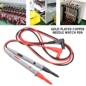 2pcs Sonde Multimètre Test Crocodile Clip Câble Cordon de Mesure 1000V 10A neu