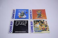 Lot of 4 Nintendo Game Boy Instruction Booklet Manuals Only