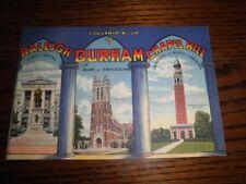 1946 Souvenir Book Raleigh Durham Chapel Hill NC North Carolina Duke University