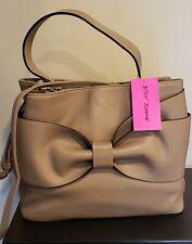 Betsey Johnson Satchel Shoulder Handbag Stone NWT