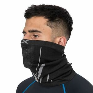 DLX Mens Womens Black Ventilated Indoor Outdoor Neck Warmer Face Mask