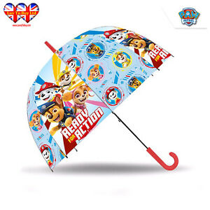 Paw Patrol Umbrella, Read for Action, Transparent Umbrella, Official Licensed