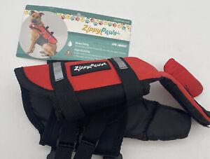 Zippy Paws Dog Life Jacket Sz XXS 6-10 in Flotation Device Reflective Trim NWT