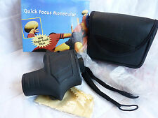 NEW Unique One Hand Fast Focusing 8x25 Monocular With Strap & Case