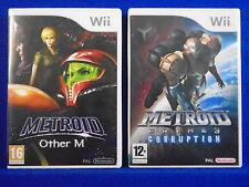 wii METROID Other M + METROID PRIME 3 Corruption Nintendo PAL