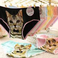 Women Cotton Panties 3D Printed Cat Briefs Knickers Underwear IntimatesBDAU