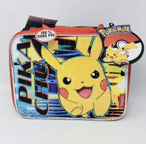 Thermos Pokemon Pikachu Lunch Box Tote with PVC Free Liner New Ships Fast!!