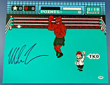 Mike Tyson Punch Out Signed 16x20 Boxing Photo Auto PSA DNA COA
