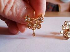 Kirks Folly aretes mariposas Butterfly Earrings dorado swarovskisteine