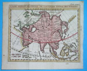 1725 ORIGINAL MAP ASIA ARABIA PHILIPPINES KOREA CHINA THAILAND INDONESIA JAPAN