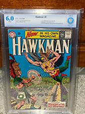 Hawkman #1 CBCS 6.0 DC 1964 1st Hawkman in title! WP! JLA! Free CGC Mylar! cm