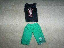 Monster High Gil Webber Skull Shores Shirt & Shorts Boy Doll Clothing VGC