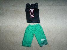 Monster High Gil Webber Skull Shores Shirt & Shorts Boy Doll Clothing VGC