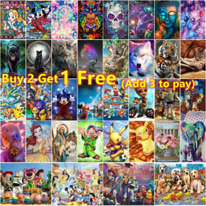 5D Full Drill Diamond Painting Kits Embroidery Cartoons Picture Decor Arts Gifts