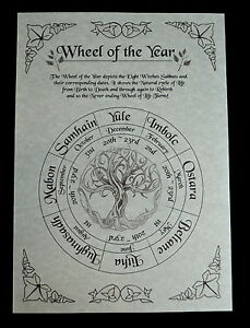 Wheel of the Year Poster Wicca Pagan Witchcraft Witch Wiccan leaflet