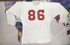 Vintage Football Jersey 60s 70s Durene Thick Nylon/Cotton White USA Shirt Worn