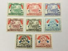 old stamps  PARAGUAY   x  8 MNH