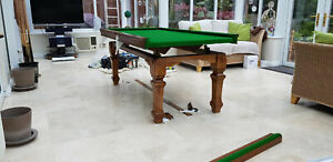 Snooker Table Recovers Service Green Recloth Re Baize Refelt Repair North West