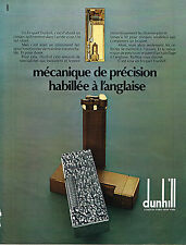 PUBLICITE  1972   DUNHILL   collection briquet