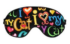 Travel Eye Sleep/Sleeping Mask I LOVE MY CAT handcrafted by Graggie Australia*GA