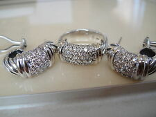 $1950 DAVID YURMAN 18/K GOLD,SS WIDE METRO PAVE DIAMOND RING