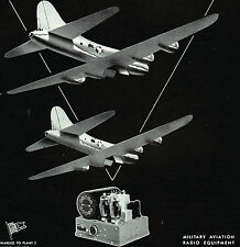 1944 WWII Ad ~ARGUS Military Aviation Radio Equipment~Communications For Victory