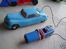 Early Vintage Plastic Battery Operated Ford Car LOOK