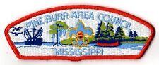 CSP Pine Burr Area MIssissippi Red Border w Oil Shrimp Boat PB 301937